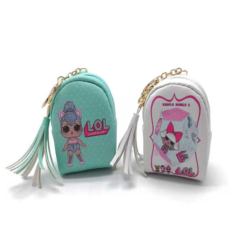 Genuino LOL. Bolsa para muñeco de juguete sorpresa, monedero para niños, cartera pequeña, soporte para tarjetas y llaves, bolsas para auriculares, juguete para regalo de LOL Doll