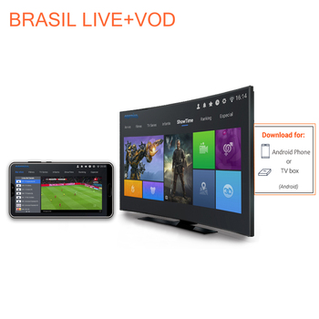 Brazilian Portuguese LIVE  VOD  for android box and android mobile or android pc цена 2017