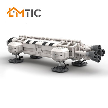 MOC City Spaceport Space 1999 Eagle The Shuttle Launch Center Bricks Building Block Educational Toys For Children Lepining 8815 space station saturn v rocket building blocks city shuttle launch center atellite astronaut figure bricks set children toys gift