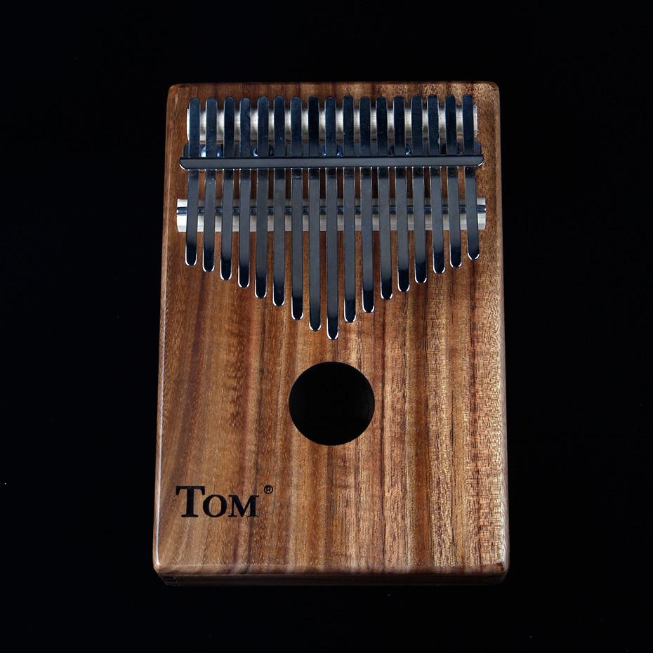 BATESMUSIC planche unique Kalimba pouce Piano17 sons en bois Portable doigt Piano ACACIA bois