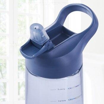 Модная Портативная соломенная чашка большая емкость чашка бутылка для воды для спорта на открытом воздухе 1000 мл синий пластик