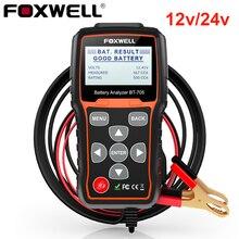 Foxwell BT705 12V/24V Batterij Tester Auto 'S Vrachtwagens 100-2000 Cca Batterij Load Tester Zwengelen En opladen Systeem Test