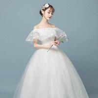 Fashion New Arrival Wedding Dress Ruffle Boat Neck Off the Shoulder Ball Gowns Princess Brides Custom plue size Bryllupskjole