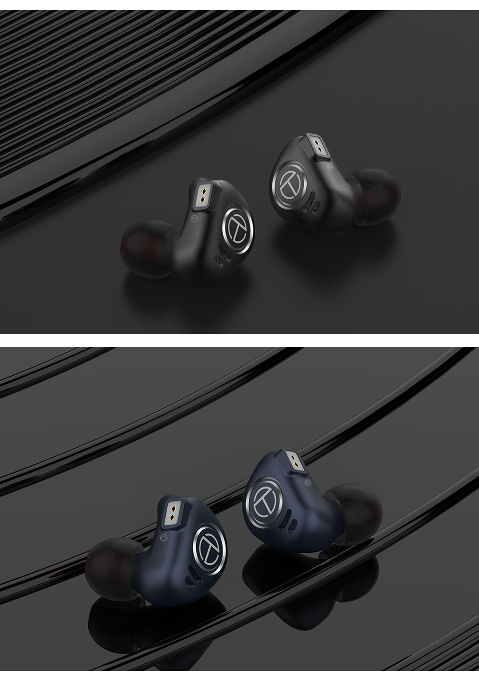 Trn v90 4ba+1dd hybrid metal in ear earphone iem hifi dj monitor running sport earphone earplug headset headplug im2/v80/x6/t200