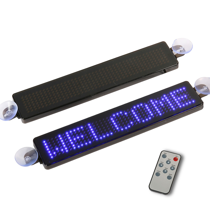 23cm Car LED Display 5V-12V DIY Programmable Scrolling Text LED Sign Open Closed Sales Cafe Bar Advertising LED Message Board