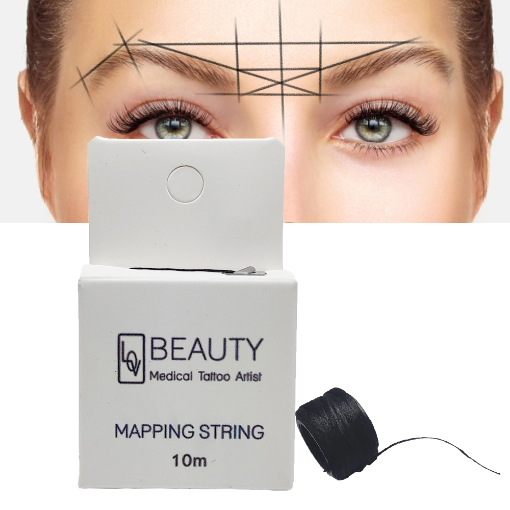 Mapping Pre-ink String For Microblading Eyebow Make Up Dyeing Liners Thread Semi Permanent Positioning Eyebrow Measuring Tool