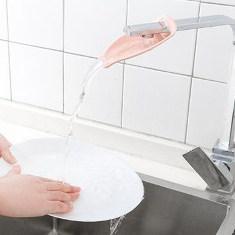 Baby Faucet Extender Plastic Faucet Lengthened Hand Safe Washing Device For Child Kid Sink Handle Extension Bathroom Accessories