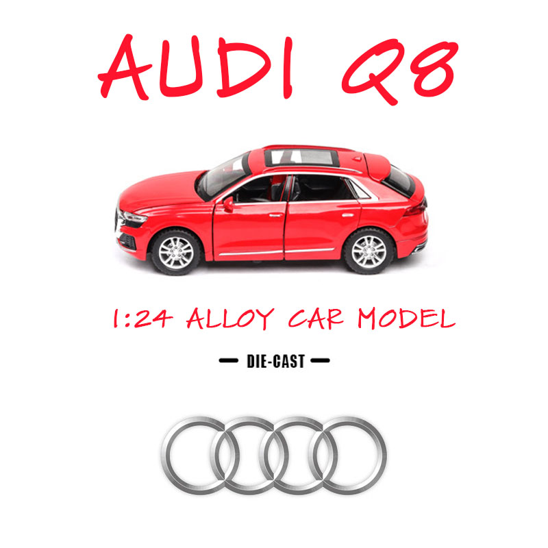 1:24 Audi Q8 Car Model Alloy Car Die Cast Toy Car Model Pull Back Children's Toy Collectibles Free Shipping