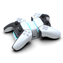 Drop Shippping For PS5 Wireless Controller Dual Charger USB Fast Charging Cradle Dock Station Stand with LED Indicator