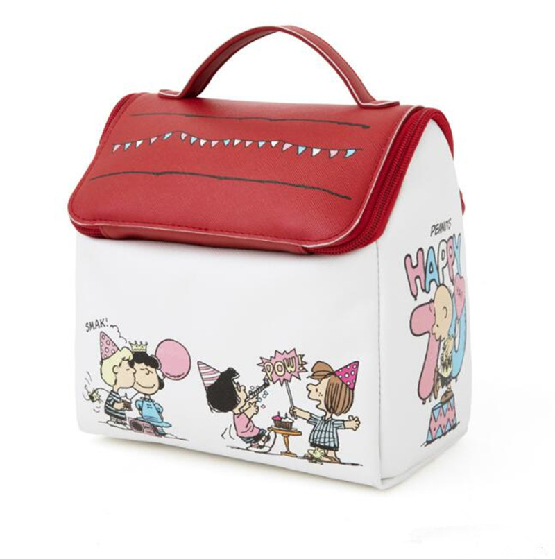 New Snoopy House Shape Portable Storage Bag Large Capacity Wash Cosmetic Bag Make Up Box Suitcase Makeup Bag