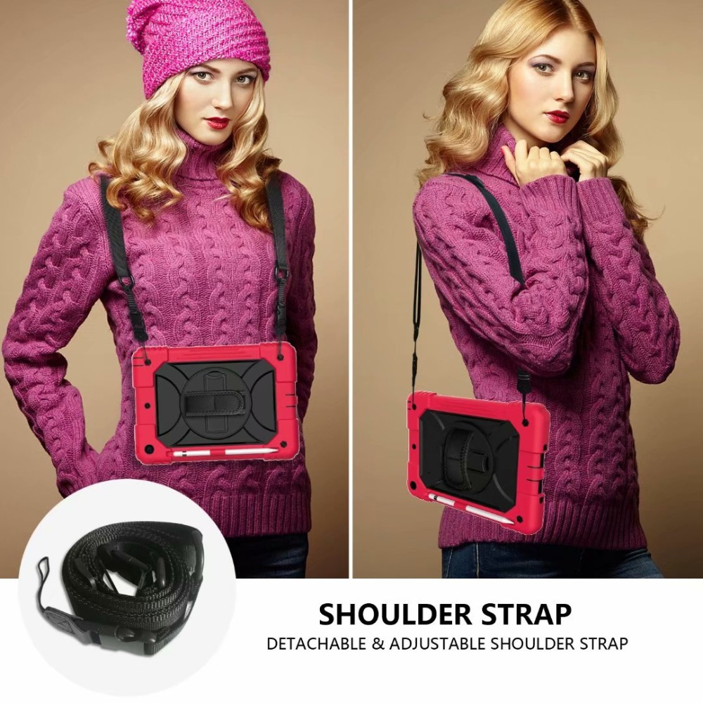Case Rotating Generation Hand iPad 360 For Holder iPad Stand Cover For 7th Strap Pencil