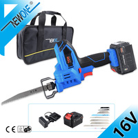 TCH 16V Cordless Jig Saw Hand Saw with Battery and Metal Saw Blades Electric Reciprocating Saw Power Tool with Bag Accessories