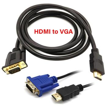 1.8m Portable 1080P HDMI to VGA Male Adapter Cable Copper Core Video Converter Cord for PC/DVD/HD TV Кабель-адаптер image