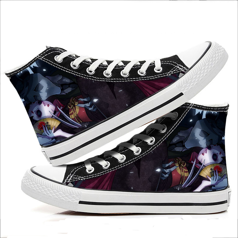 Anime Identity V Cosplay Fashion Casual Graffiti High help canvas shoes Cos Personality Hip Hop Student Shoes