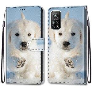 Image 3 - Coque animaux Cool pour Xiaomi Mi 10T Pro, étui en cuir à rabat pour Xiaomi Mi10T 10Pro 10 Lite 5G, étui portefeuille Lion ours loup chats chiens