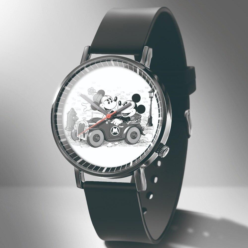 DQG Kids Watches Black Mickey Fashion Luxury Cartoon Relogio New Casual Brand Casual