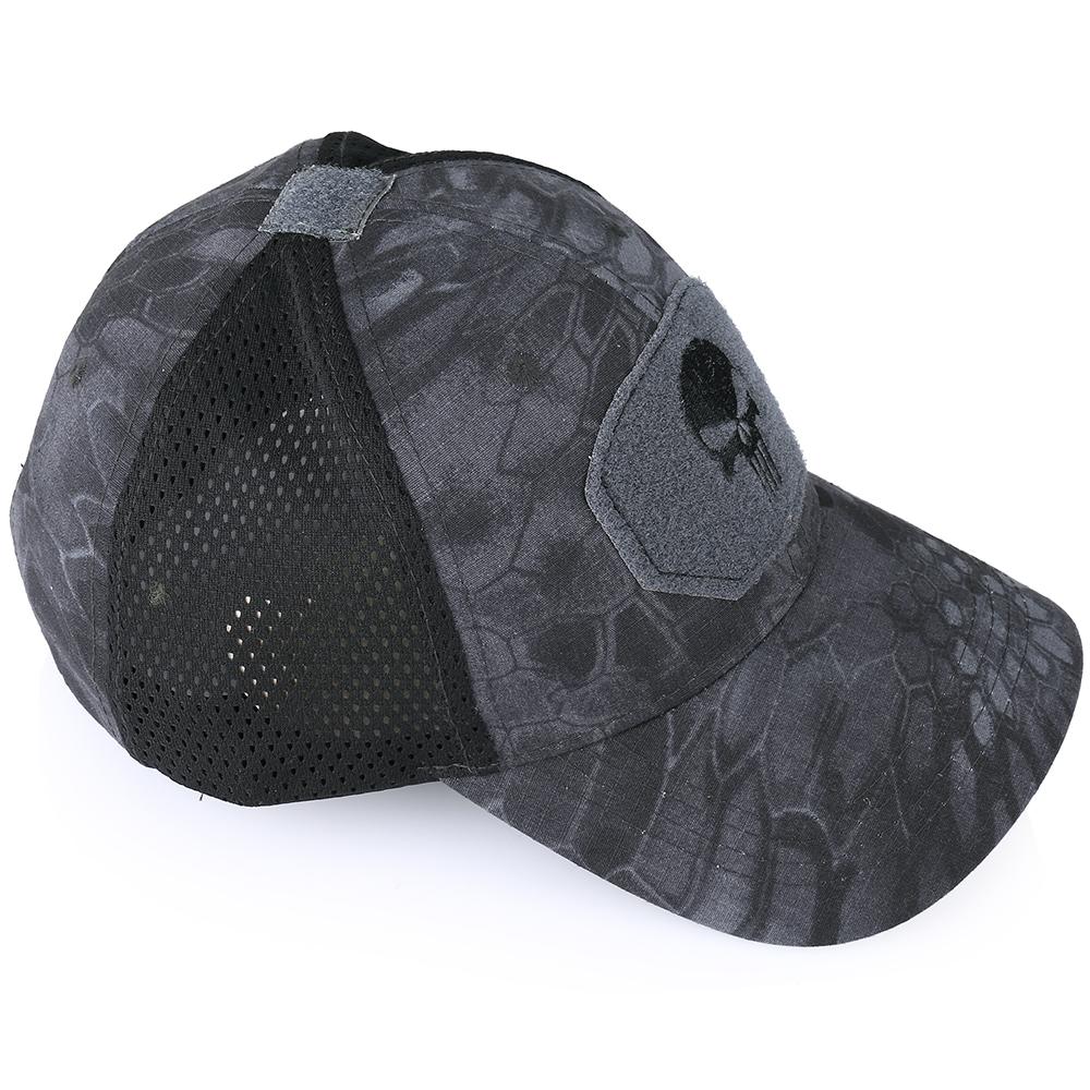Skull Tactical Military Airsoft Cap Adjustable Breathable Sun Visor Trucker Hat Mesh Hunting Hiking Baseball Skeleton Snapback 29