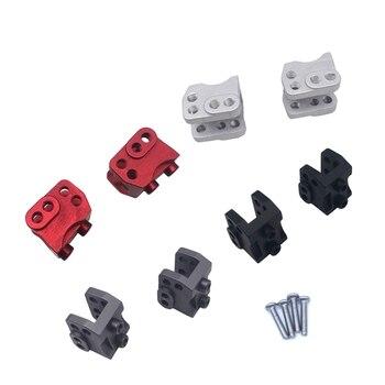2 uds CNC aluminio delantero trasero inferior choque enlace montaje para RC 1/10 Rock coche Axial SCX10-II 90046 90047 AR44 eje