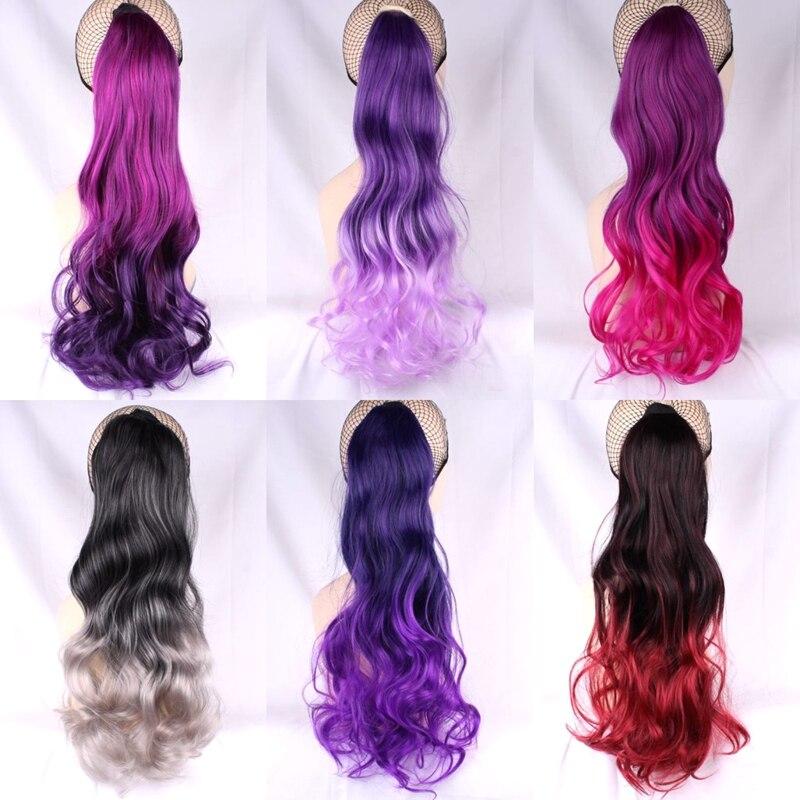 JOY & BEAUTY волосы высокого Температура волокна длинные волнистые эффектом деграде (переход от темного к на клипсе Синтетический волос,