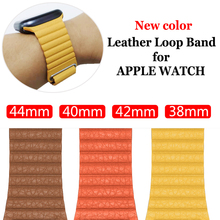 Strap Voor Apple Watch Band 42Mm 38Mm 44Mm 40Mm Correa Iwatch 5 4 3 2 Leather Loop magnetische Armband Apple Watch 4 Accessoires