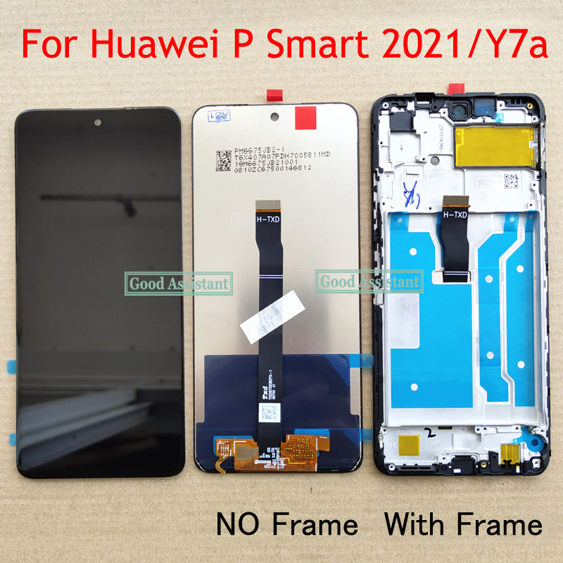 Оригинальный 6,67 дюймовый черный для Huawei P Smart 2021 / Huawei Y7a ЖК-дисплей сенсорный экран дигитайзер в сборе Замена с рамкой