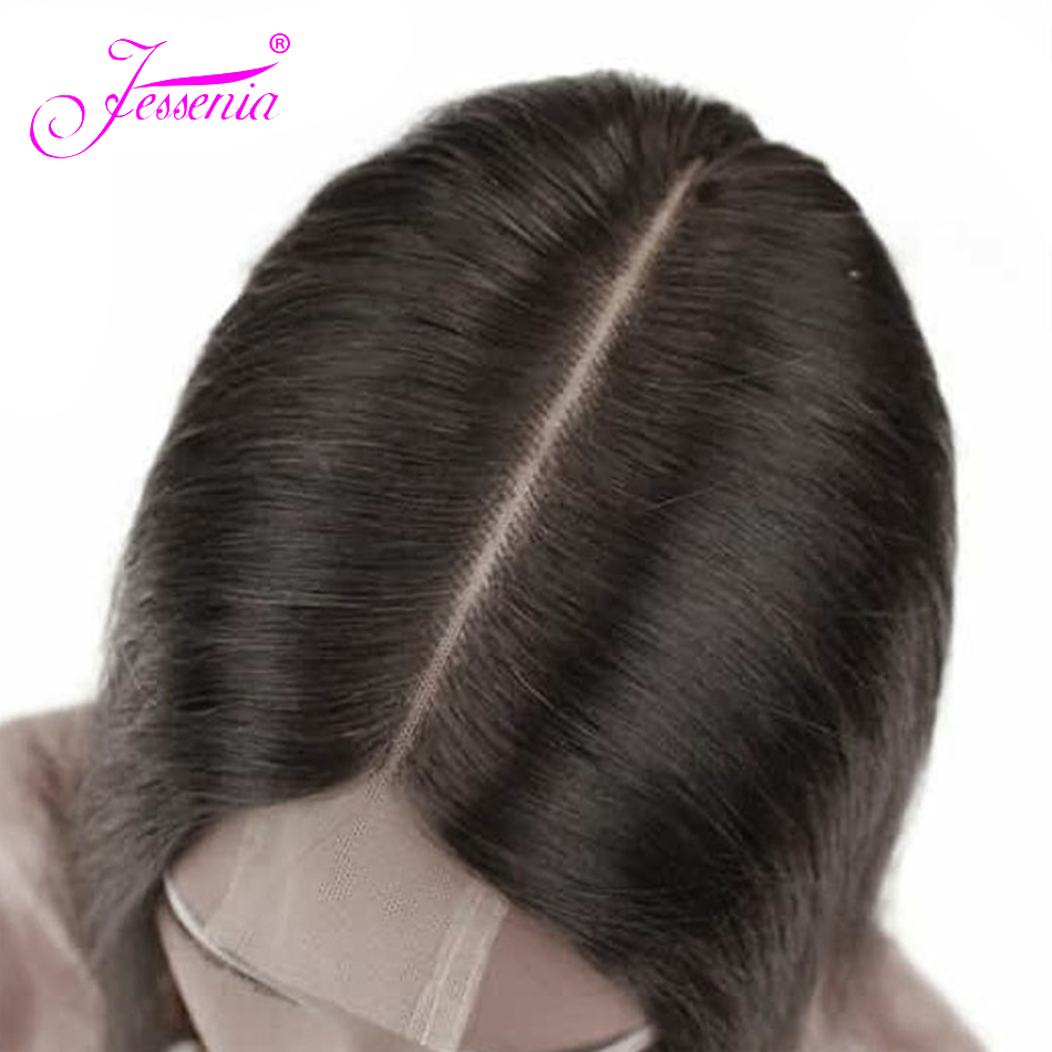 Lace Closure Human-Hair Kim Straight Middle-Part 8-20-Inches 2X6  title=
