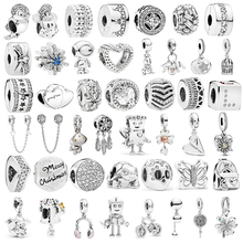 Fit Original Pandora Charms Bracelet Pendant Trinket Jewelry For Women Man DIY Making New Infinite Shine Sweet Home Bead цена 2017