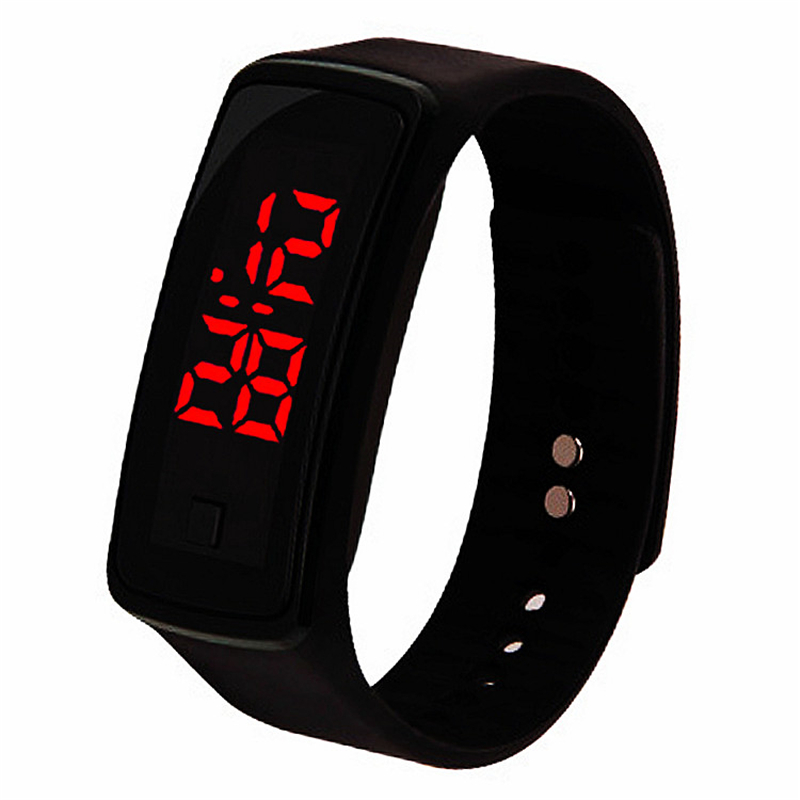 Sports Wristband Watch LED Children's Electronic Digital Wrist Watches Fashion Men Military Kids Clock Student Hour Baby Gift