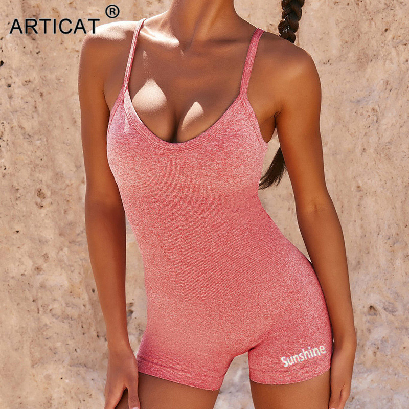 Articat Sexy Summer Playsuit Women Backless Sexy Rompers Bodycon Strapless Jumpsuit Female Solid Color Bodysuit New Casual Style