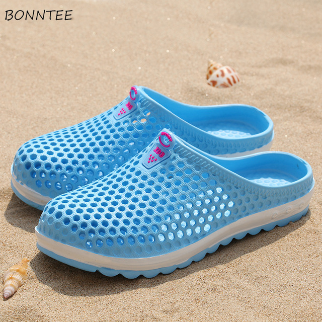 Summer Slippers Women Fashion Casual Non-slip Beach Mesh Shoes Female Breathable Soft Bottom Womens Slides Flat Outside Slipper