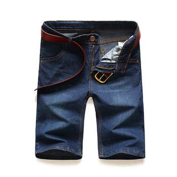 AIRGRACIAS Plus Size 28-46 New Fashion Mens Classic Short Jeans Brand Clothing Bermuda Cotton Elasticity Summer Denim Shorts airgracias mens shorts ripped hole jeans brand clothing cotton short breathable denim shorts men new fashion bermuda size 28 40