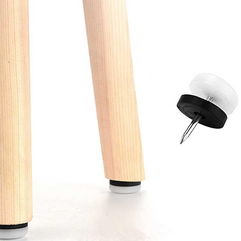 mesa sof/á muebles tachuelas DOITOOL 40 piezas blanco engrosamiento muebles deslizantes u/ñas en nylon deslizante almohadilla protector de piso para patas de madera de la silla