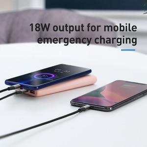 Baseus 18W Power Bank 10000mAh Quick Charge 3,0 Tragbare Externe Handy ladegerät mit PD Zwei weg Schnelle aufladen Power Powerbank    -