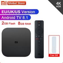 Original Globale Xiao mi mi TV Box S 4K HDR Android TV 8,1 Ultra HD 2G 8G WIFI Google Cast Netflix IPTV Set-top-Box Media Player