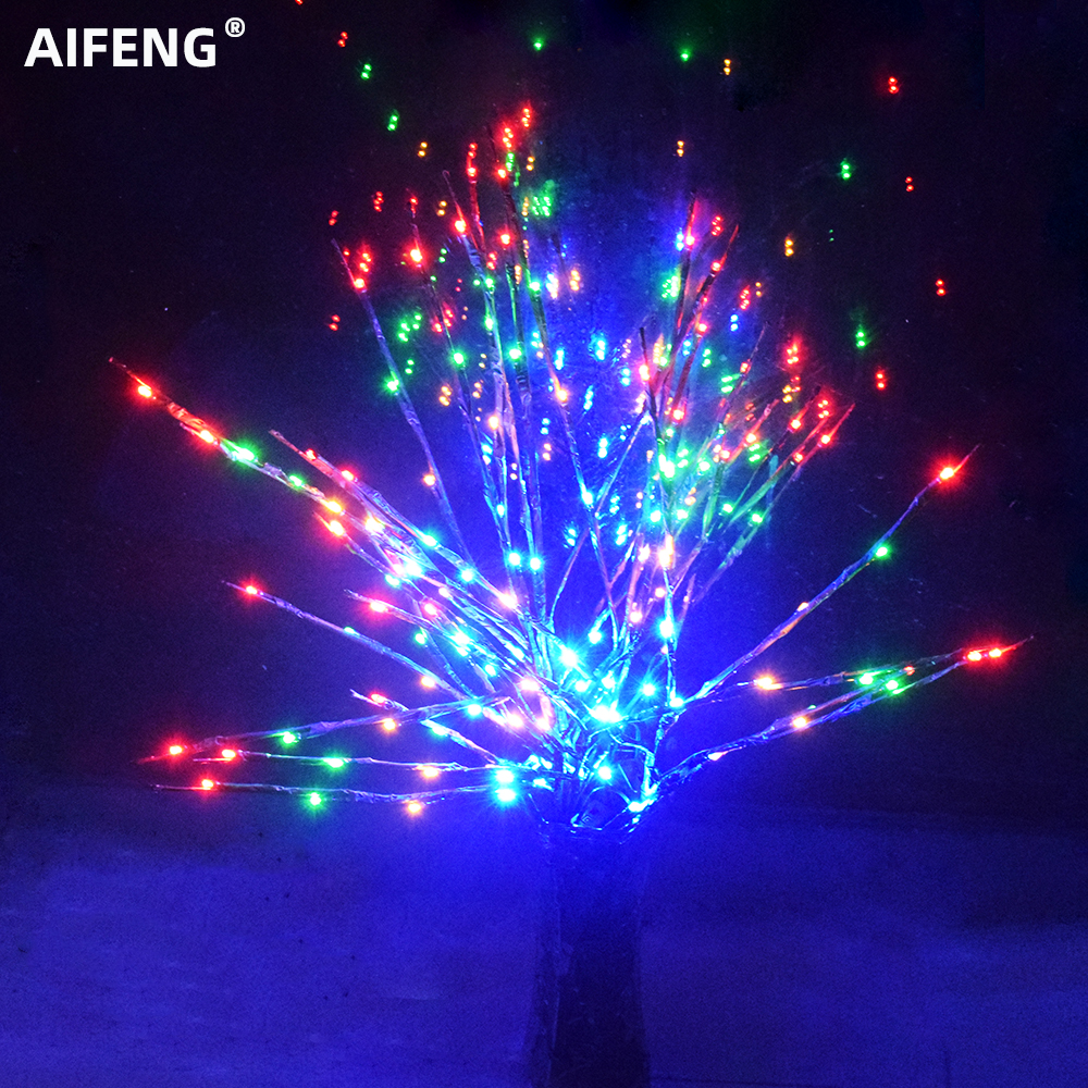 Aifeng Led Willow Branch Lamp 20 Bulbs Christmas Vase Floral Lamp  Tree Branch Lights Led Lights Decoration Garland Xmas Fairy