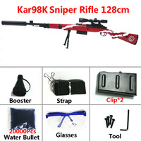 Toy Guns Sniper Rifle Kar98K AWM M24 mini Safety Outdoor Water Gel Balls Strap Shooting Air 128cm Gun Lovers for Boys Gifts