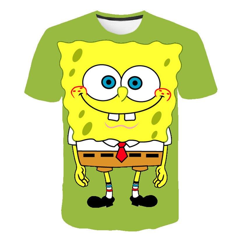 Spongebob Kids Tshirt 3d Print Boys T Shirts Fashion Summer Men Harajuku Funny Tee Unisex Streetwear Hip Hop Tracksuit Top