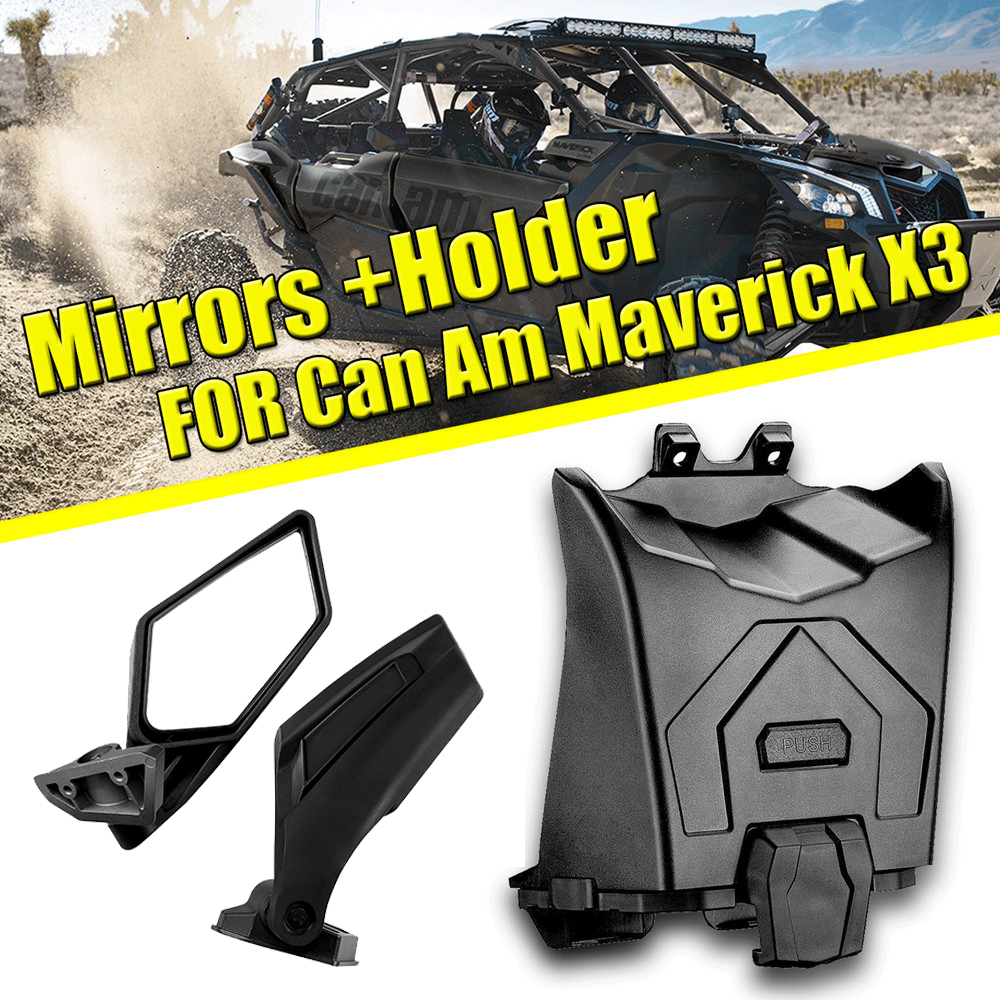 KEMIMOTO Tablet Mobile Phone Bracket And Side Rearview Mirrors For Can Am Maverick X3 MAX R Turbo 4X4 2017-2019 2018