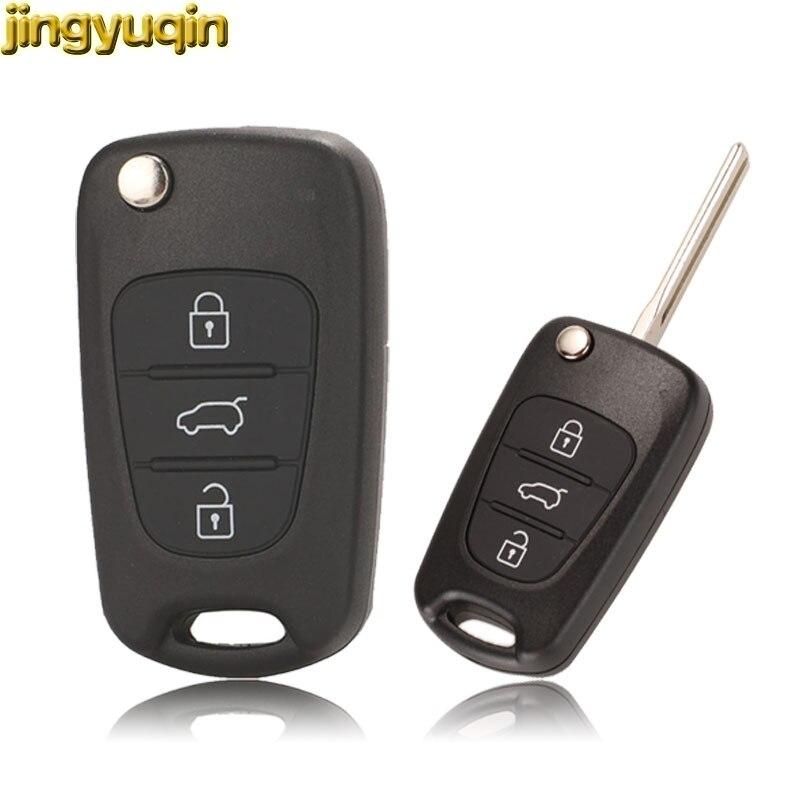 Jingyuqin дистанционного автомобиля 3BTN складной ключ оболочки для hyundai I20 I30 IX35 акцент Kia Picanto Sportage K5 Rio 3 Ceed Cerato K2 K3 Soul