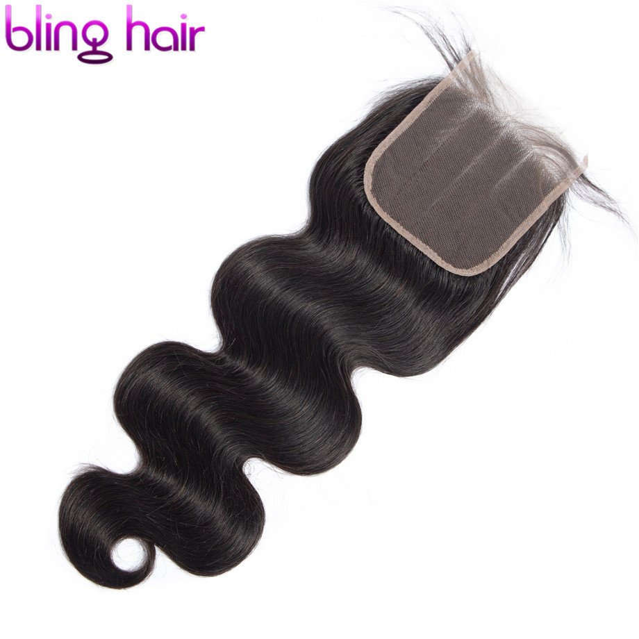 Шикарные волосы 4x4 кружевная застежка бразильские волнистые 100% человеческие волосы застежка с детскими волосами бесплатно/Средние/три час...