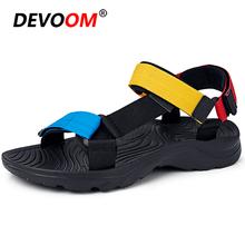 Letnie sandały turystyczne męskie 2020 Outdoor gumowe antypoślizgowe trampki pantofle sportowe plażowe sandały gladiatorki męskie gumowe buty trekkingowe tanie tanio DEVOOM Pasuje prawda na wymiar weź swój normalny rozmiar 2020690219 shoes+male Sneakers Lekki Anti-śliskie Zrównoważony