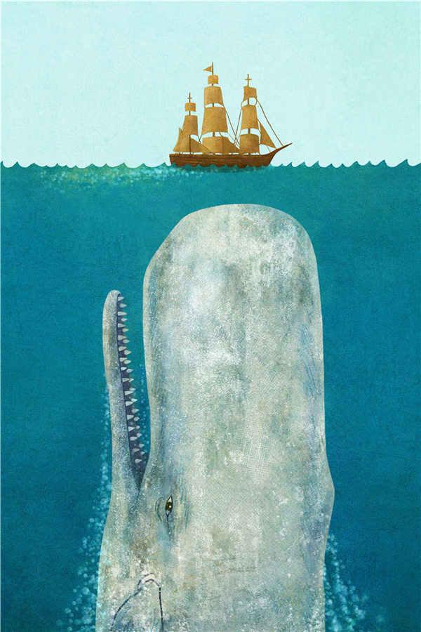 Baleia tubarão golfinho bonito dos desenhos animados peixes fotos família decorativa nordic lona arte da parede arte da lona impressão animal