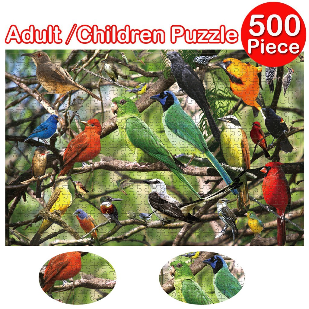 1000 Pieces Jigsaw Puzzle Children's Adult Wooden Puzzle Intelligence Educational Game Toys kids Jigsaw Puzzle toys Stickers 30