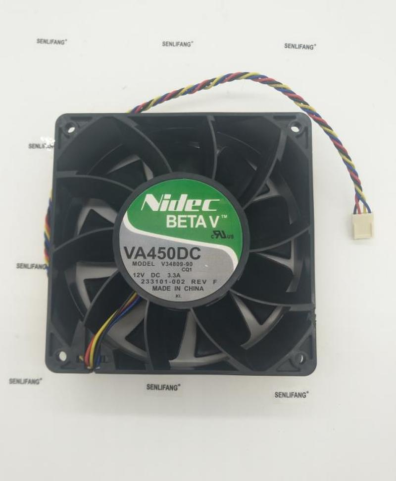 For Original Nidec VA450DC V34809-90 120*120*38MM DC12V 3.3A 4 Line PWM Large Air Cooling Fan