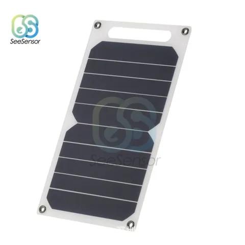 5 v 10 w portatil diy painel solar magro luz usb carregador de carregamento power