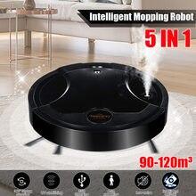 50w 5-em-1 inteligente varrendo robô doméstico spray de carregamento ultravioleta varrendo limpar a máquina de limpeza