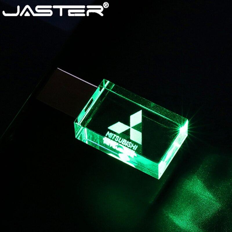 JASTER mitsubishi crystal + metal USB flash drive pendrive 4GB 8GB 16GB 32GB 64GB 128GB External Storage memory stick u disk