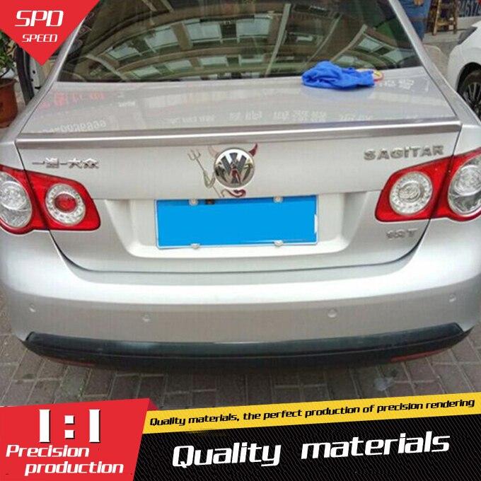 For VW Jetta Spoiler High Quality ABS Material Car Rear Wing Primer Color Rear Spoiler For Volkswagen Jetta Spoiler 2008-2011(China)