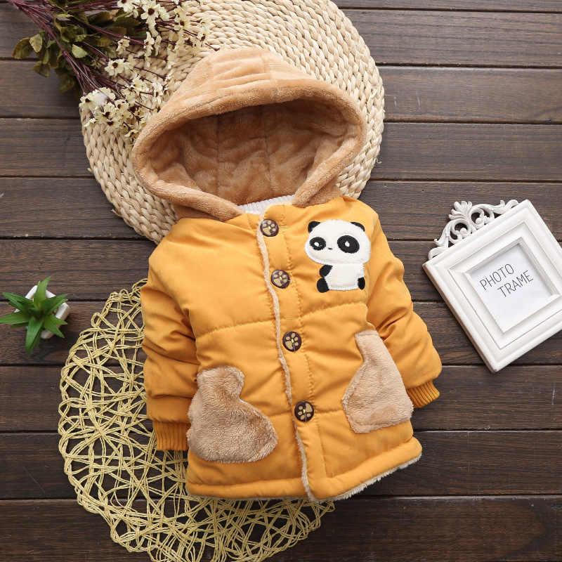 2019 г. Осенне-зимнее меховое пальто с рисунком панды для маленьких мальчиков, куртка для мальчиков детская теплая верхняя одежда, пальто для мальчиков, одежда
