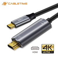 CABLETIME USB Type C to HDMI Cable USB C HDMI Adapter M/M 4K 60Hz Converter 1.8m Cable for MacBook Samsung Galaxy S8+ C028   -